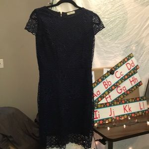 Navy Blue Size Lace Dress